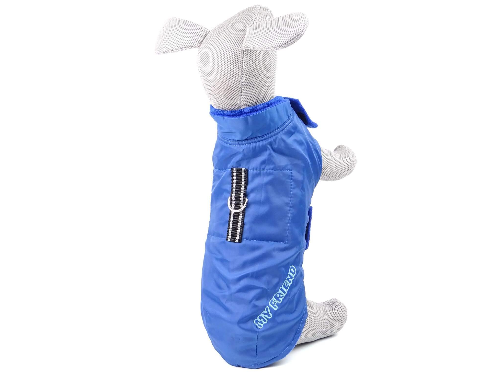 """Vsepropejska Snowy zimní bunda """"My friend"""" pro psa Barva: Modrá, Délka zad psa: 28 cm, Obvod hrudníku: 30 - 52 cm"""
