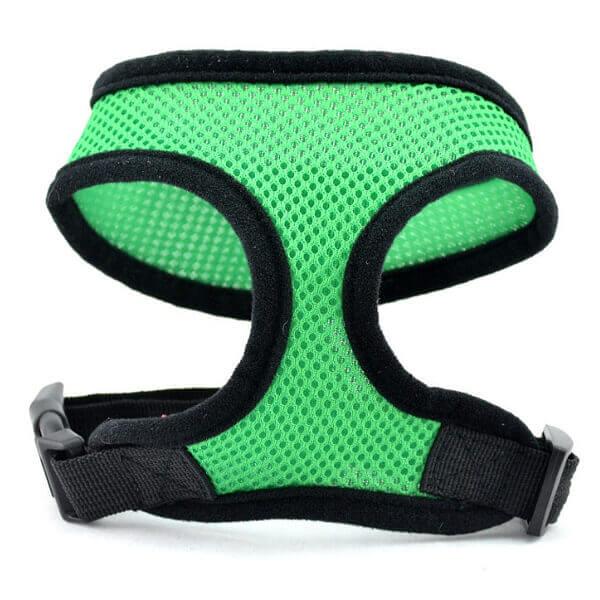 Vsepropejska Airy zelené kšíry pro psa | 23 – 59 cm Barva: Zelená, Obvod hrudníku: 23 - 31 cm
