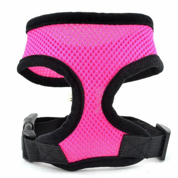 Vsepropejska Airy růžové kšíry pro psa | 23 – 59 cm Barva: Růžová, Obvod hrudníku: 37 - 50 cm