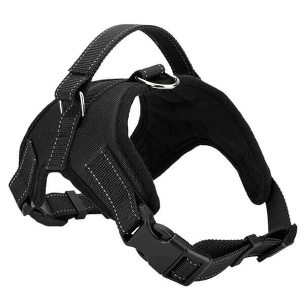 Vsepropejska Sporty černý postroj pro psa | 46 – 85 cm Barva: Černá, Obvod hrudníku: 46 - 57 cm