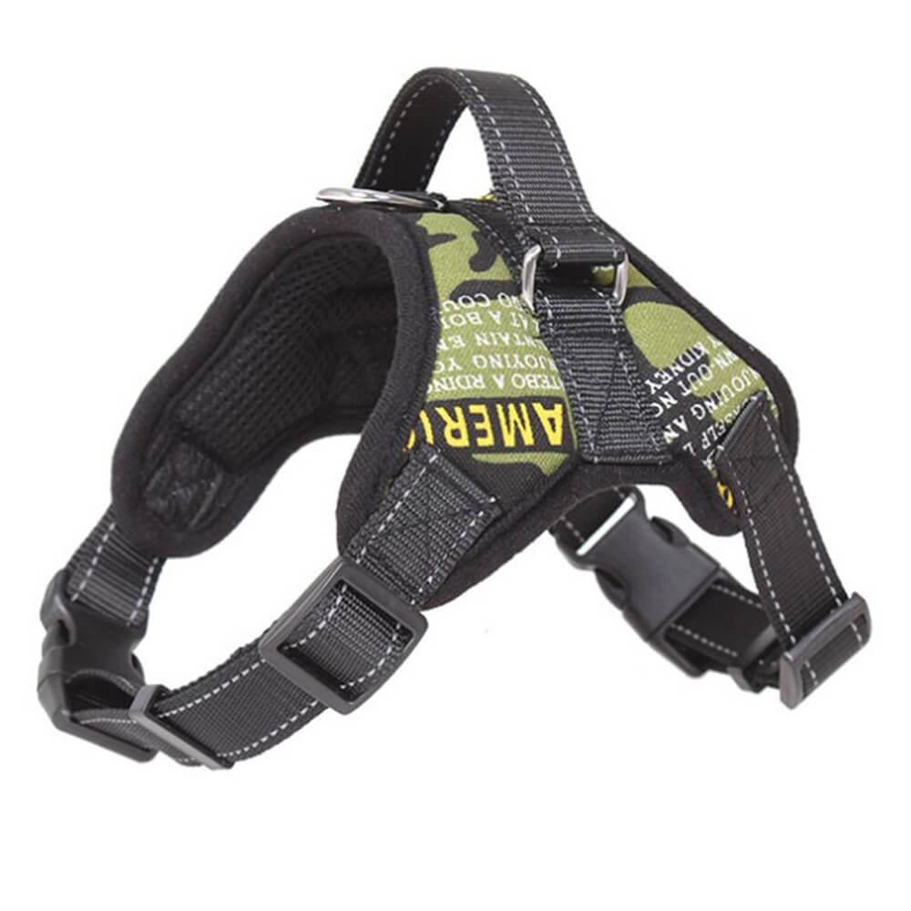 Vsepropejska Sporty zelený postroj pro psa | 46 – 85 cm Barva: Černo-zelená, Obvod hrudníku: 60 - 80 cm