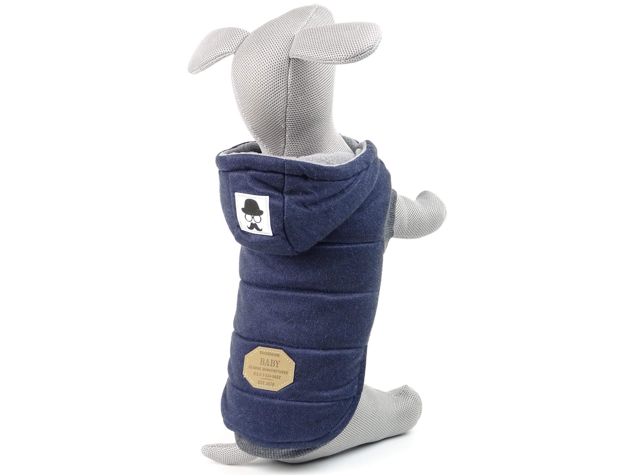 Levně Vsepropejska Mix zimní bunda pro psa Barva: Modrá, Délka zad psa: 26 cm, Obvod hrudníku: 32 - 38 cm