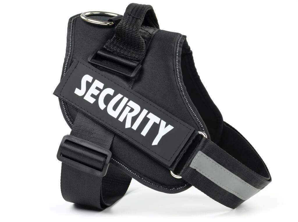 Vsepropejska Security černý postroj pro psa | 51 – 115 cm Barva: Černá, Obvod hrudníku: 68 - 87 cm