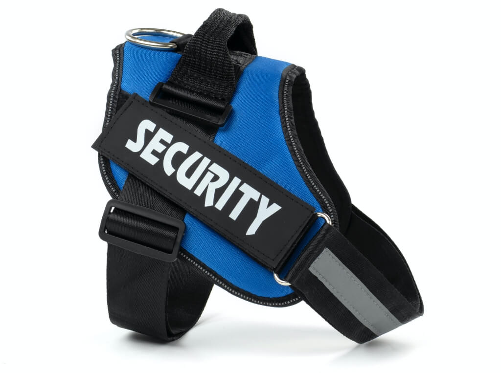 Vsepropejska Security modrý postroj pro psa | 51 – 115 cm Barva: Modrá, Obvod hrudníku: 51 - 66 cm
