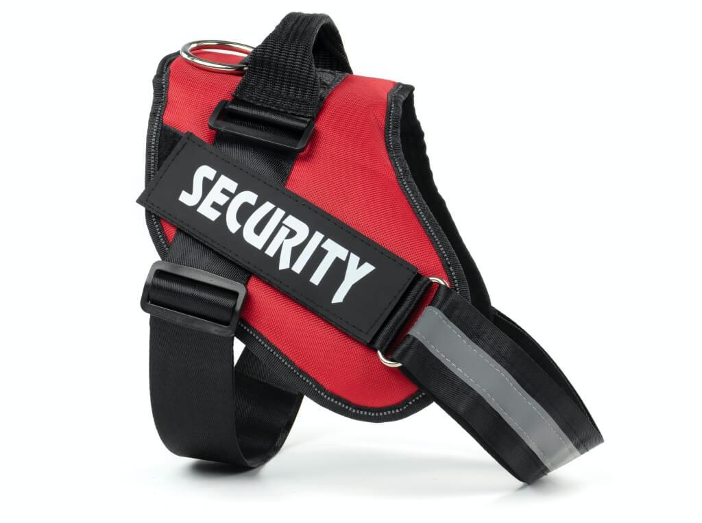 Vsepropejska Security červený postroj pro psa | 51 – 115 cm Barva: Červená, Obvod hrudníku: 51 - 66 cm