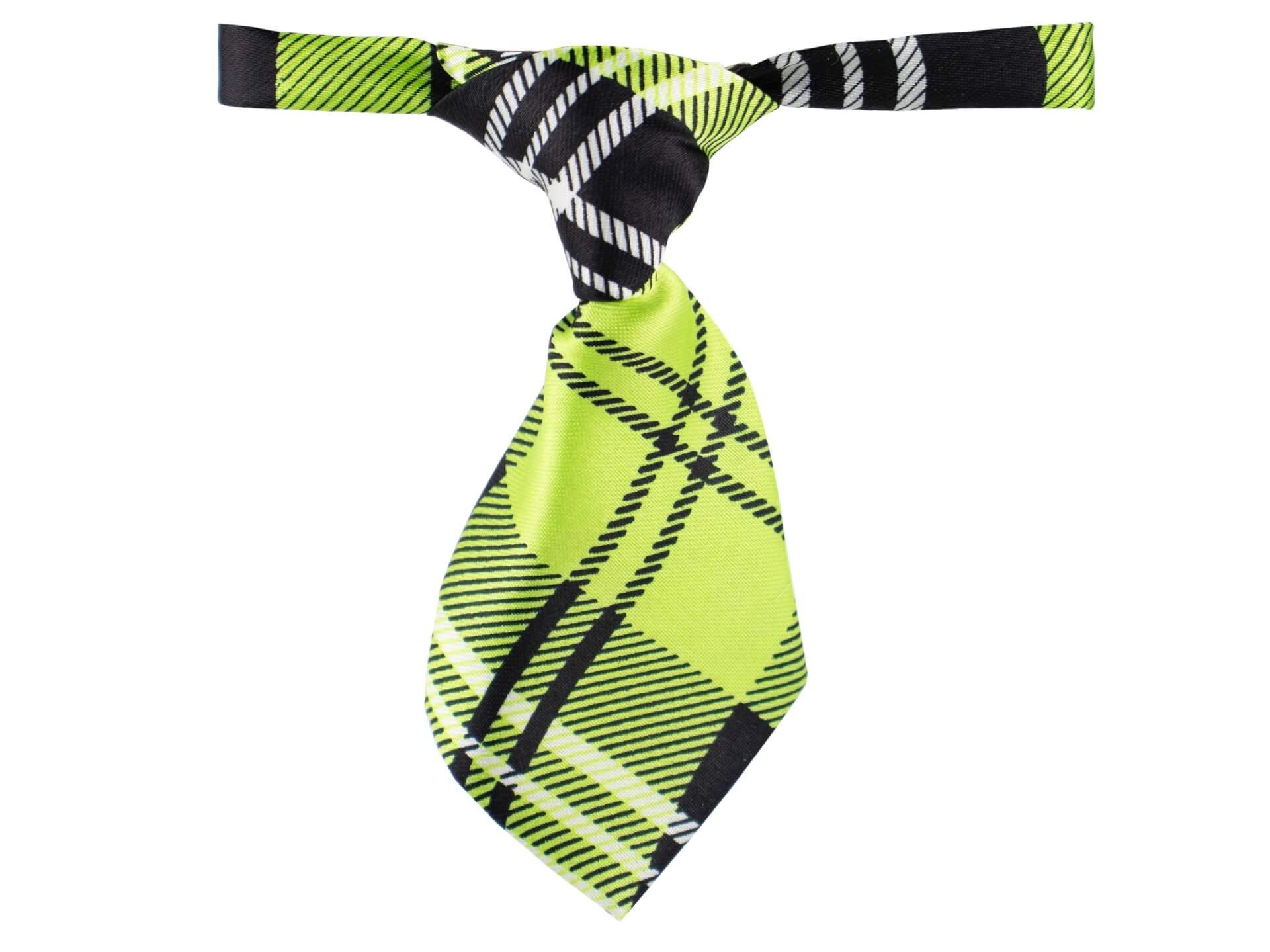 Vsepropejska Jespa zelená károvaná kravata pro psa