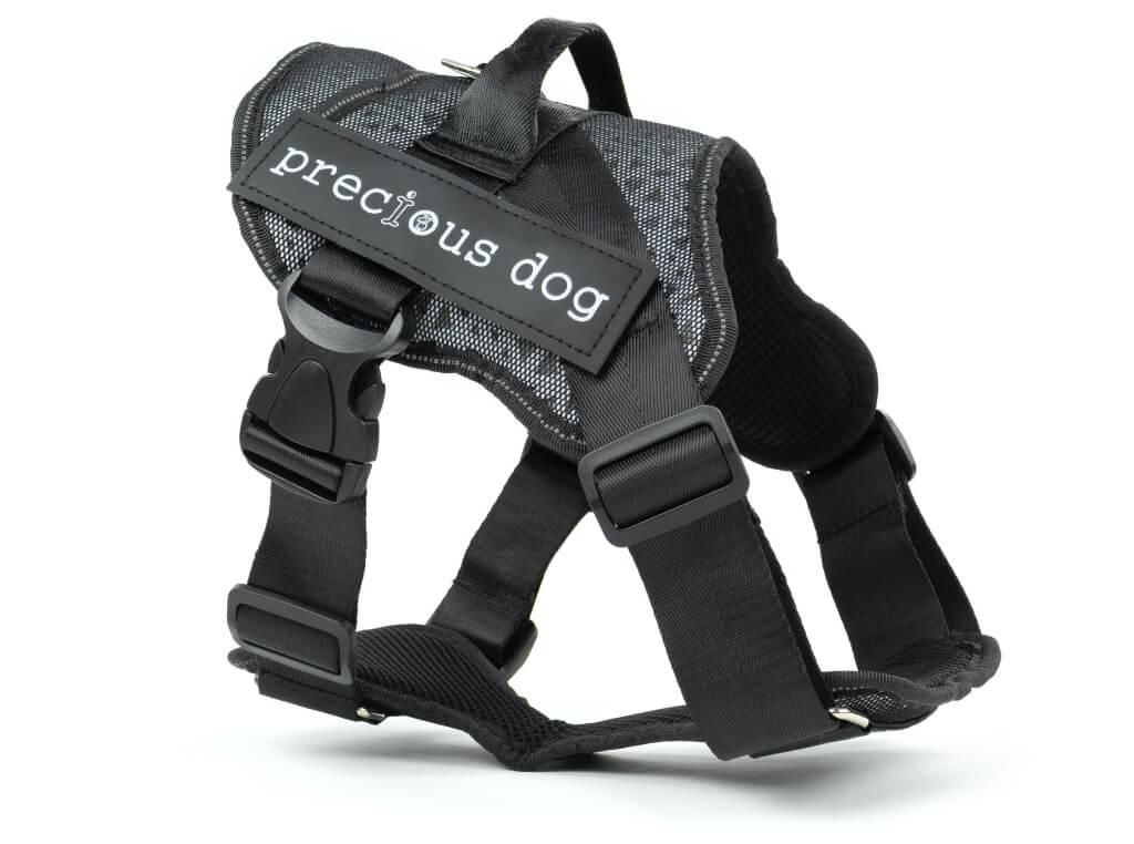 Vsepropejska Precious šedý postroj pro psa | 54 – 95 cm Barva: Šedá, Obvod hrudníku: 54 - 62 cm