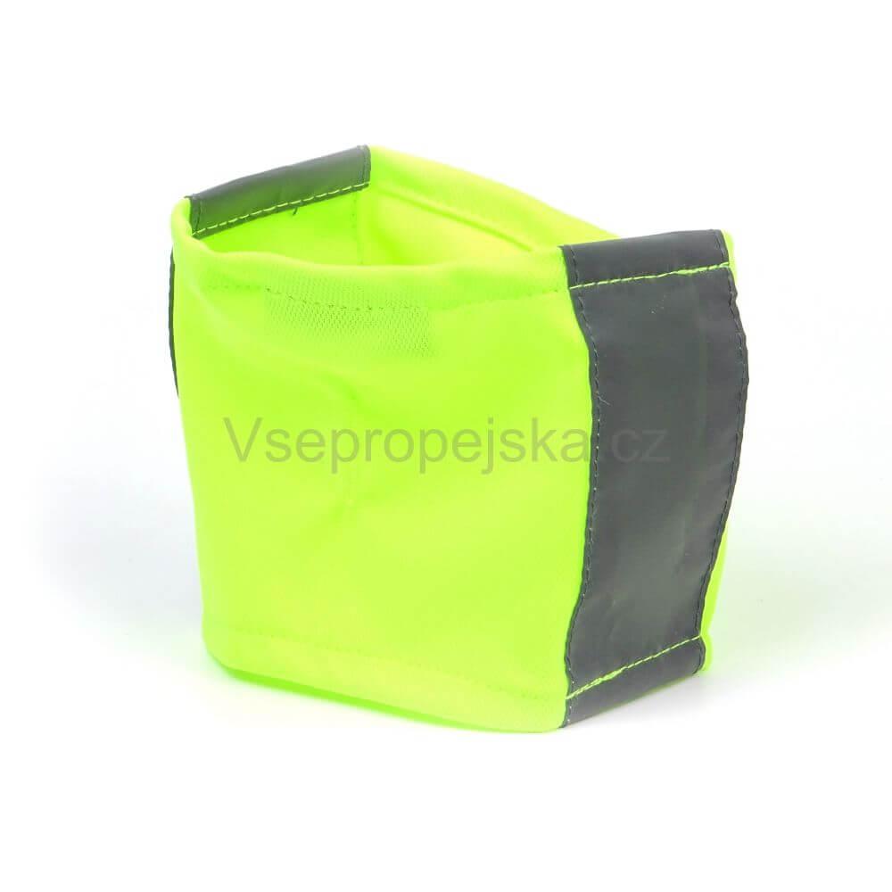 Vsepropejska Bold reflexní šátek pro psa Barva: Žlutá, Rozměr: 24 - 29 cm