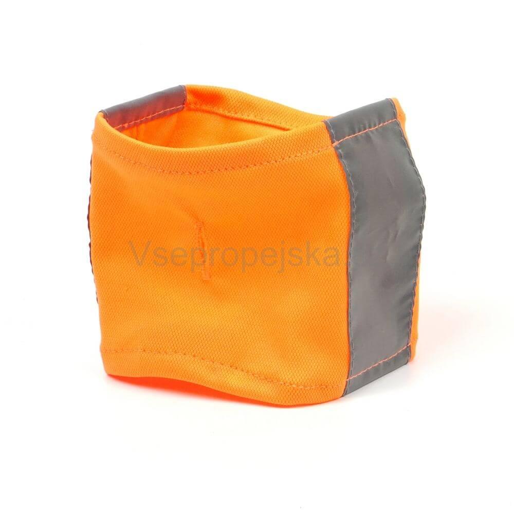Vsepropejska Bold reflexní šátek pro psa Barva: Oranžová, Rozměr: 24 - 29 cm
