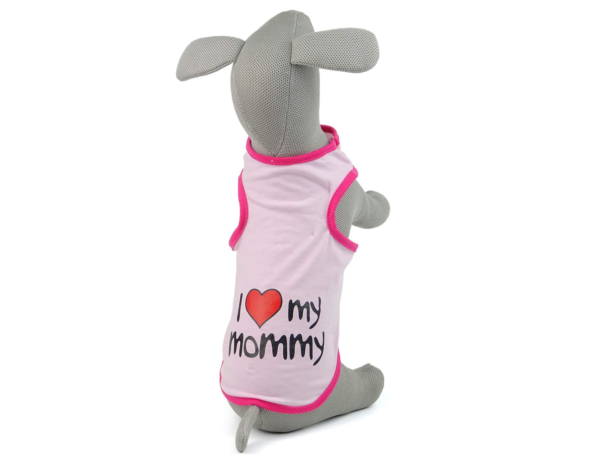 Levně Vsepropejska Mommy letní tričko pro psa Barva: Růžová, Délka zad psa: 21 cm, Obvod hrudníku: 30 - 33 cm