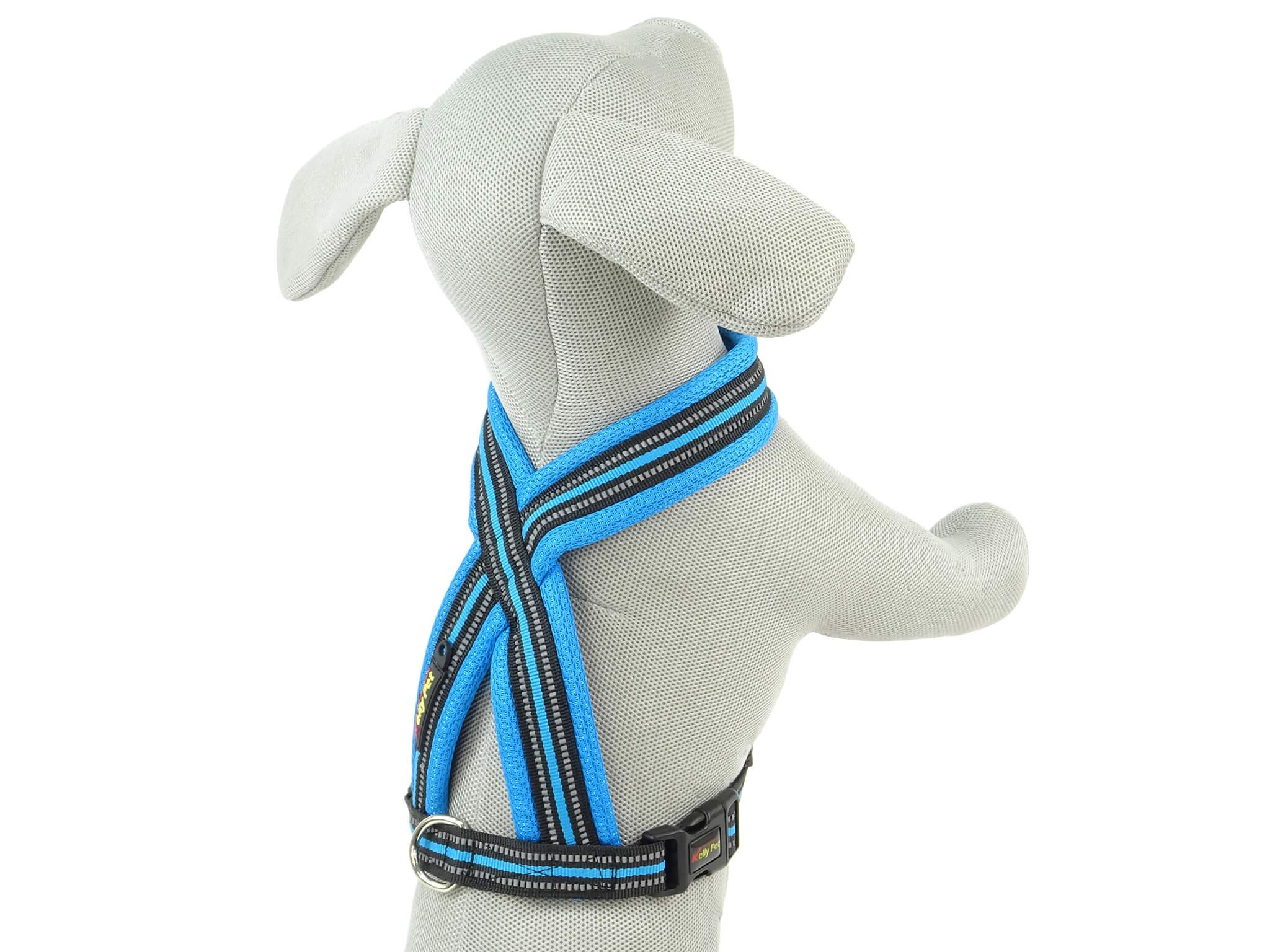 Vsepropejska Ryan reflexní postroj pro psa do | 43 – 72 cm Barva: Modrá, Obvod hrudníku: 52 - 64 cm