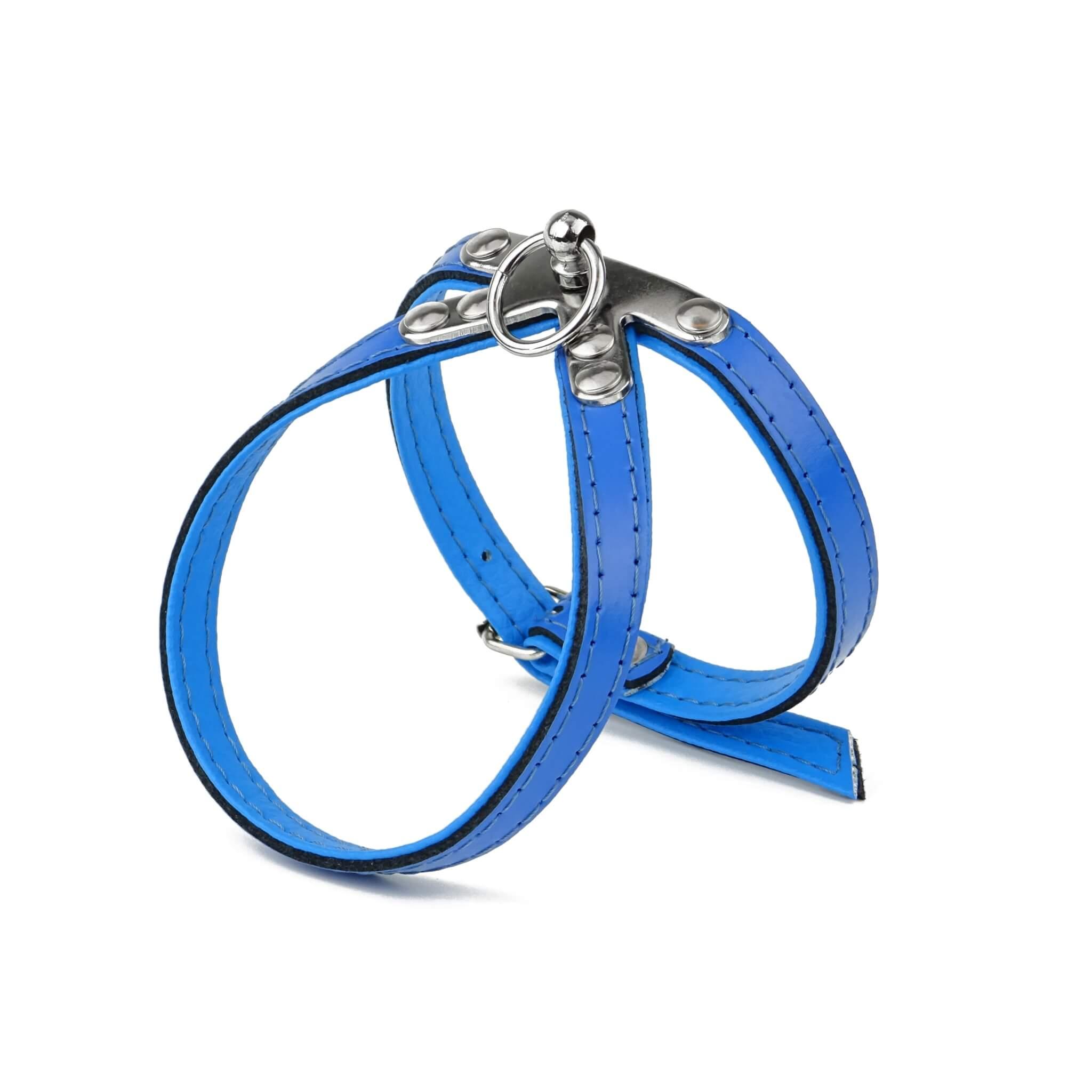 Vsepropejska Lux kožený postroj pro psa | 27 - 42 cm Barva: Modrá, Obvod hrudníku: 32 - 38 cm