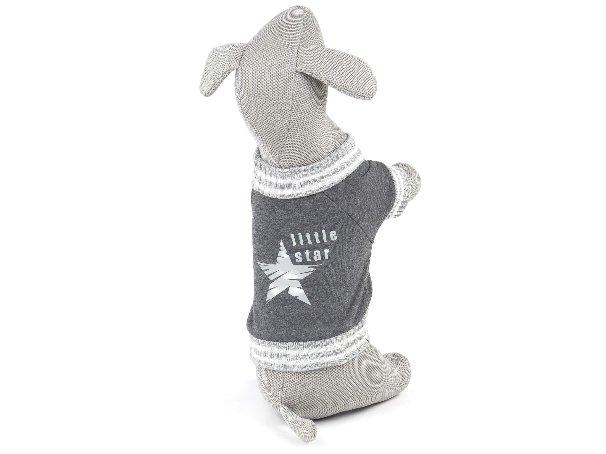 Vsepropejska Boss mikina pro psa s úplety Barva: Šedá, Délka zad psa: 17 cm, Obvod hrudníku: 26 - 32 cm