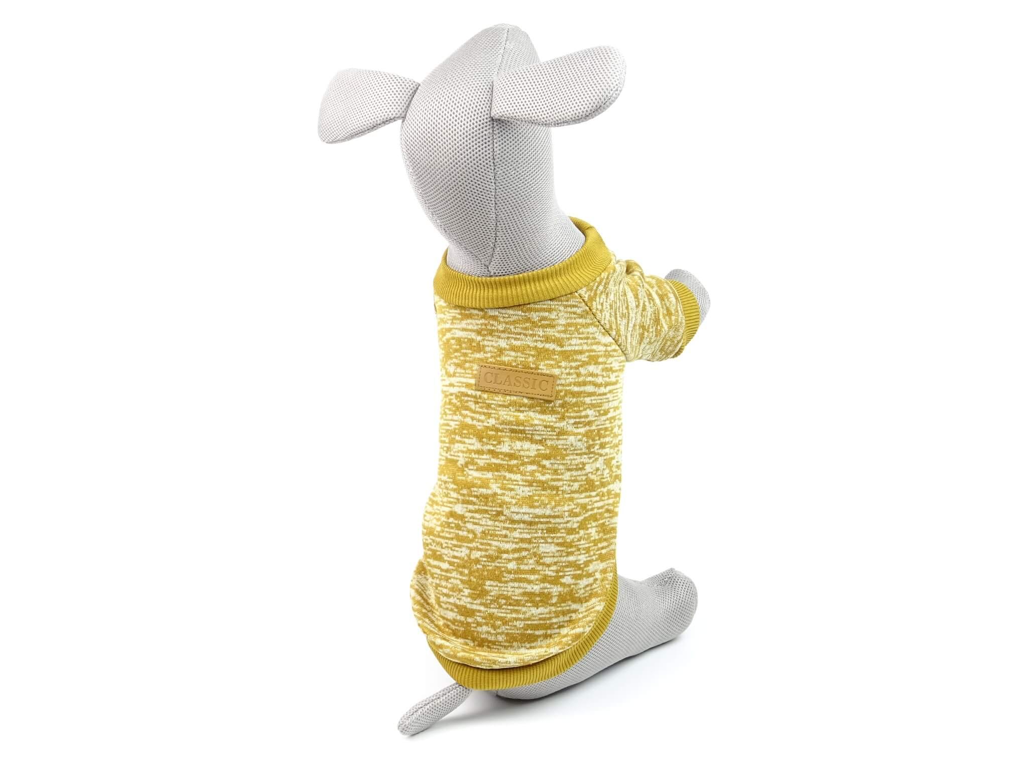 Levně Vsepropejska Classic mikina pro psa Barva: Hořčicová, Délka zad psa: 20 cm, Obvod hrudníku: 24 - 30 cm