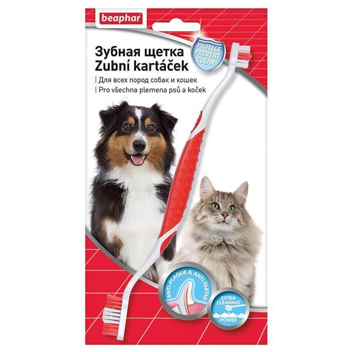 Beaphar oboustranný zubní kartáček pro psa