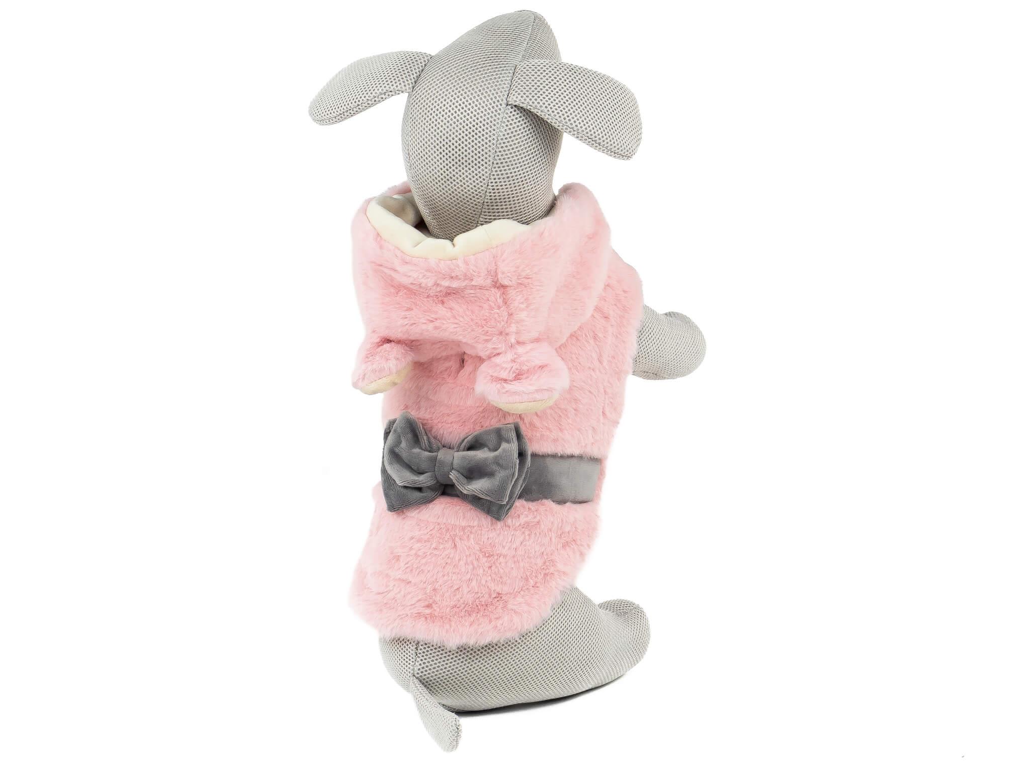 Vsepropejska Sandy růžová měkoučká mikina pro psa Délka zad psa: 31 cm, Obvod hrudníku: 38 - 44 cm
