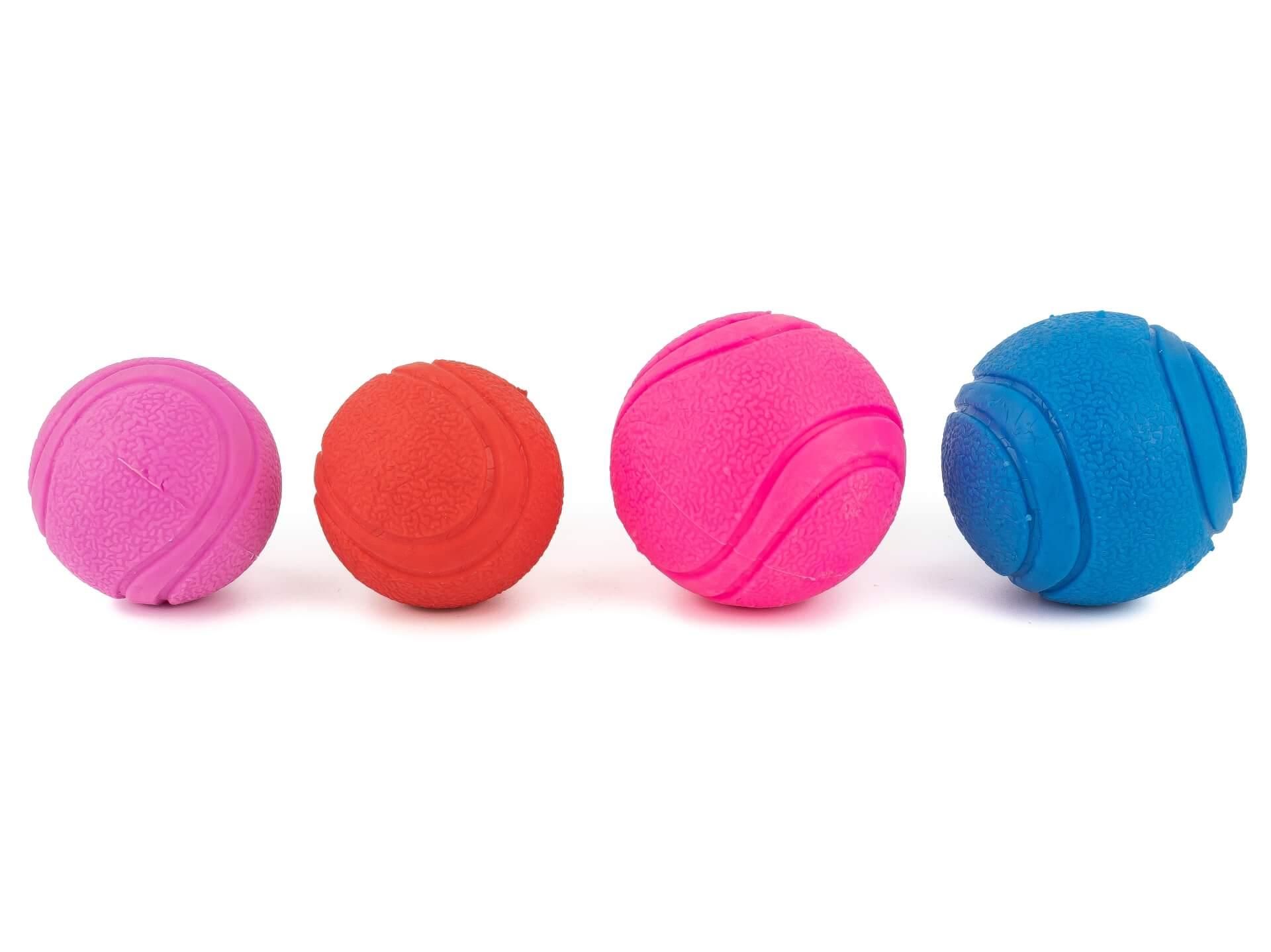 Vsepropejska Jump míček pro psa Barva: Červená, Rozměr: 6 cm