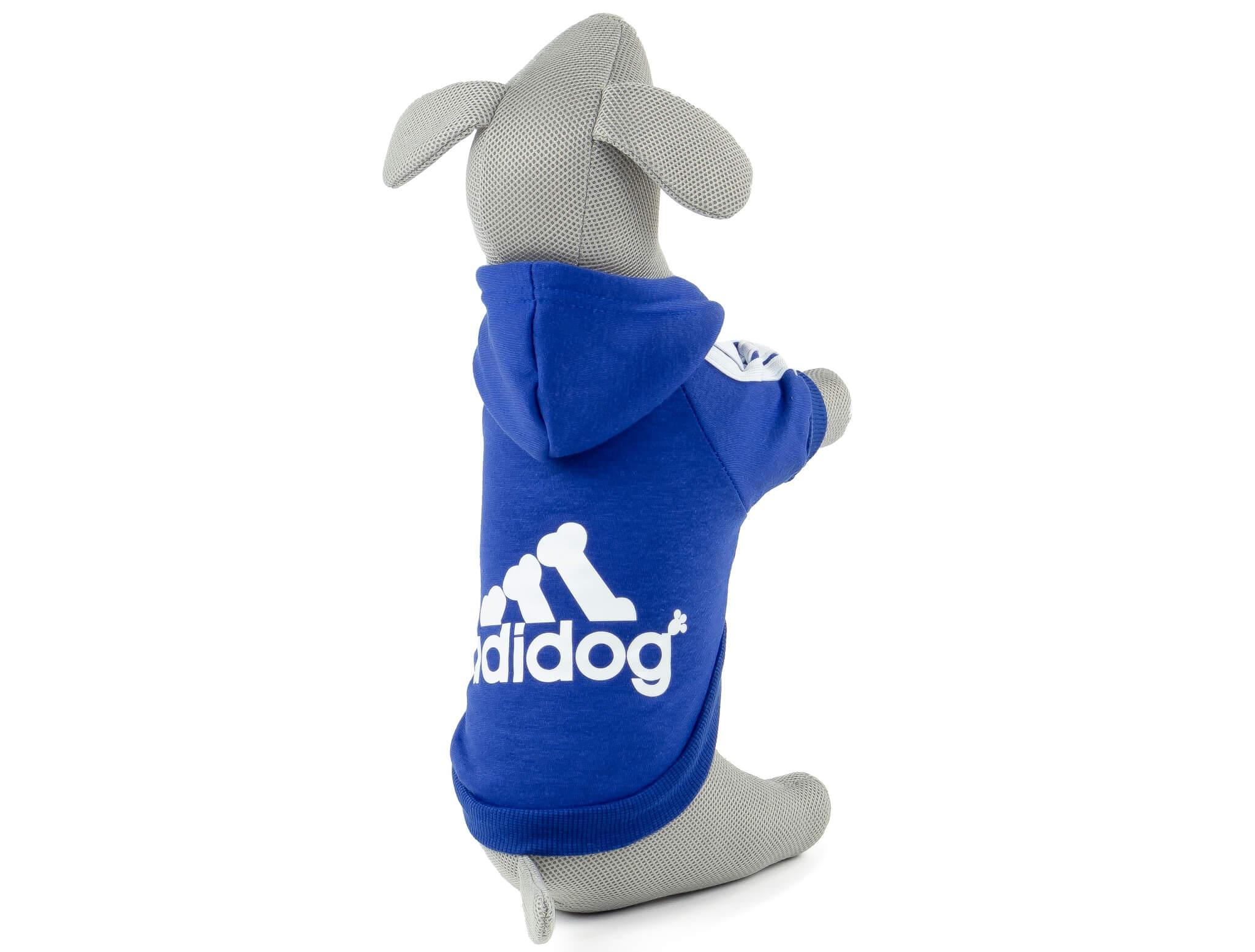 Vsepropejska Adidog modrá mikina pro psa Délka zad psa: 25 cm, Obvod hrudníku: 28 - 34 cm