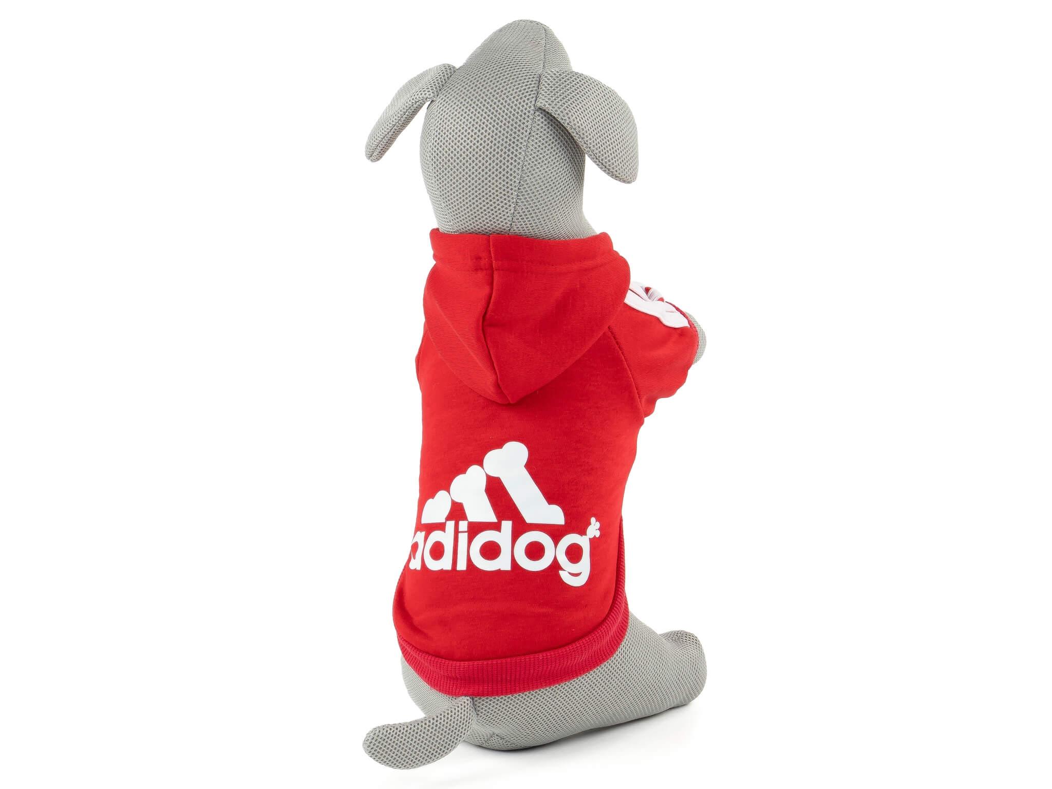 Vsepropejska Adidog červená mikina pro psa Délka zad psa: 18 cm, Obvod hrudníku: 22 - 28 cm