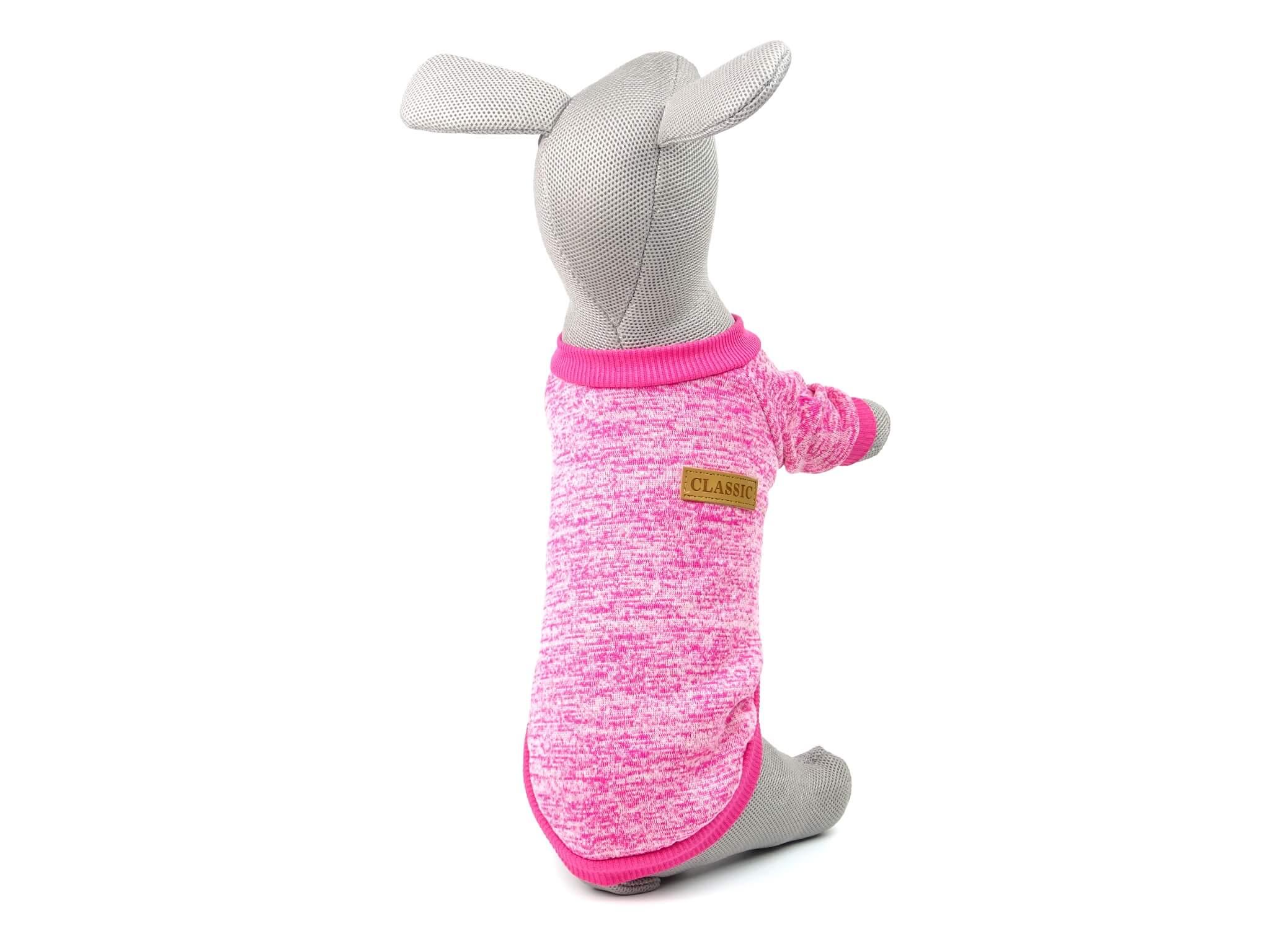 Vsepropejska Classic mikina pro psa Barva: Tmavě růžová, Délka zad psa: 25 cm, Obvod hrudníku: 28 - 34 cm