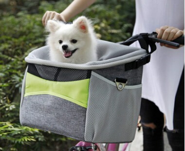 Vsepropejska Dave šedý košík na kolo pro psa