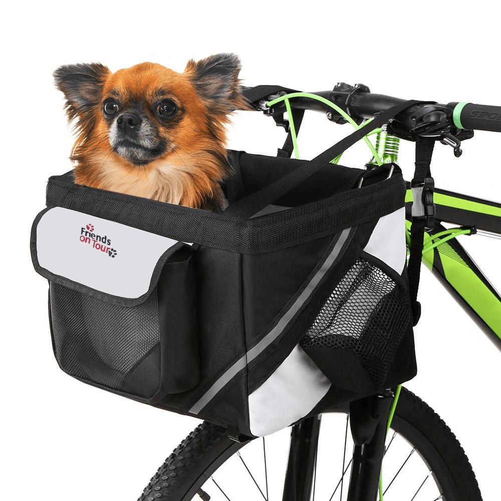 Vsepropejska Tour černý košík na kolo pro psa