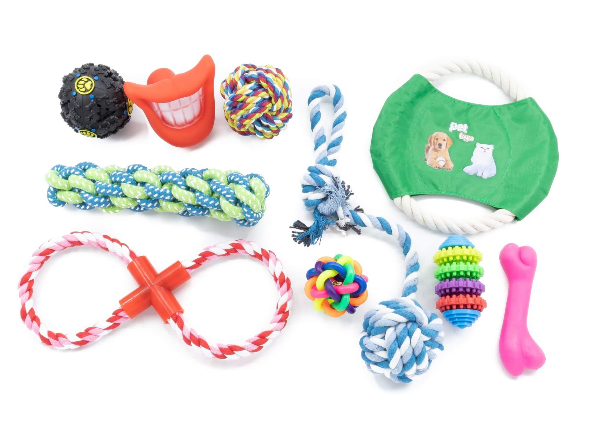 Vsepropejska Set V přetahovací hračky pro psy | 10 ks
