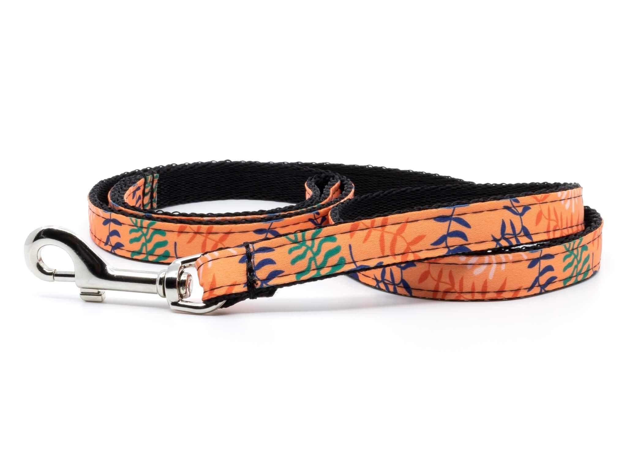 Vsepropejska Havaj oranžový obojek, postroj a vodítko Typ: Vodítko, Velikost: Délka 130 cm - šířka 1,6 cm