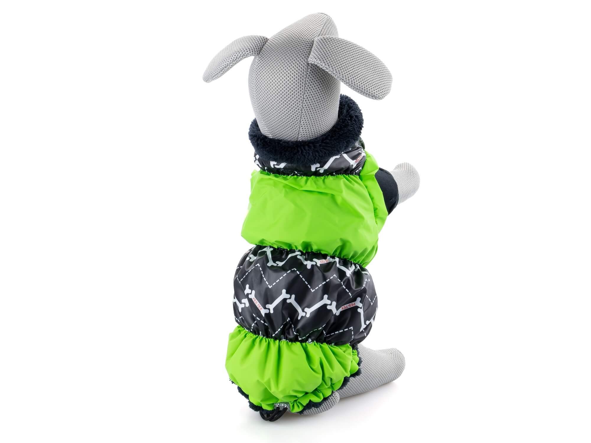 Levně Pes-tex Alexa zimní bunda pro psa Barva: Zelená, Délka zad psa: 28 - 35 cm, Obvod hrudníku: 40 - 62 cm