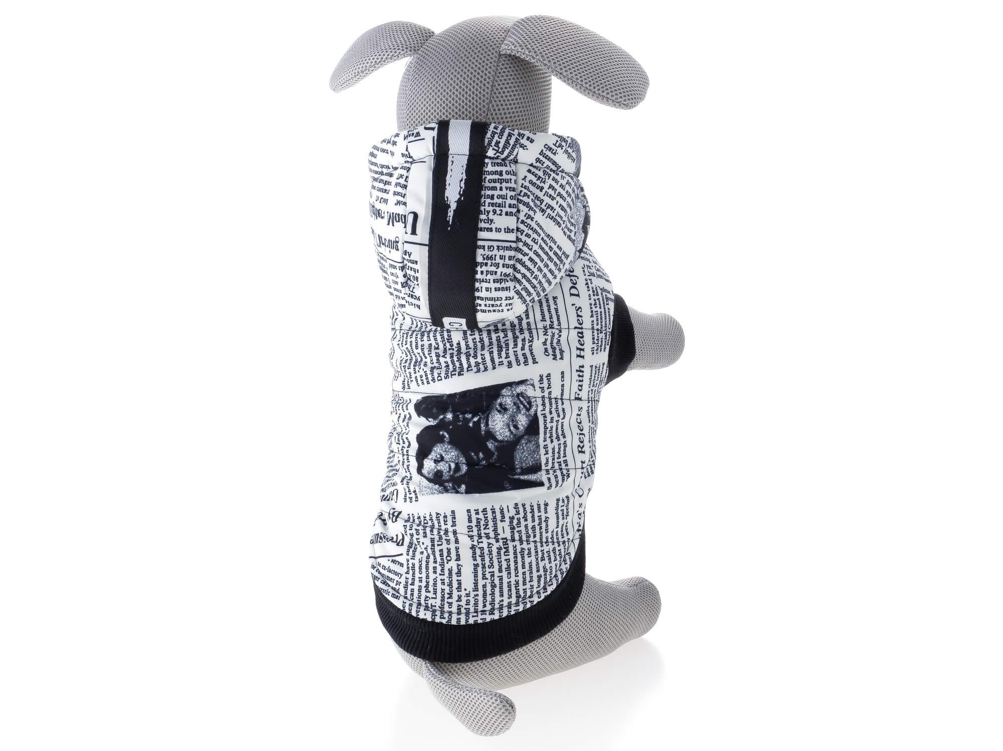 Vsepropejska Mercury teplá bunda pro psa s kapucí Barva: Bílá, Délka zad psa: 21 cm, Obvod hrudníku: 34 - 38 cm