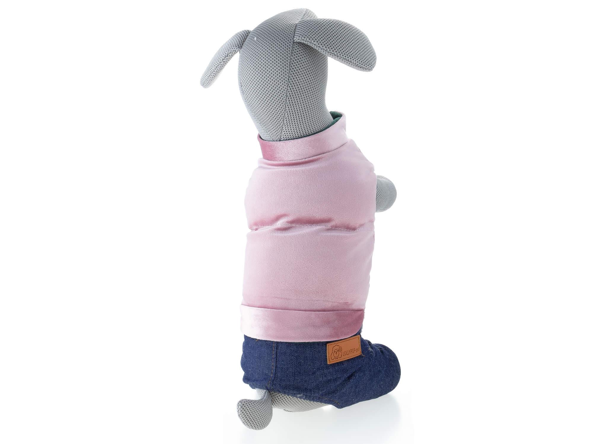 Vsepropejska Simba zimní kombinéza pro psa Barva: Růžová, Délka zad psa: 20 cm, Obvod hrudníku: 28 - 32 cm