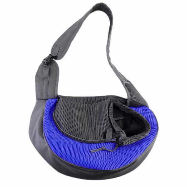 Vsepropejska Travel modrá taška pro psa přes rameno Dle váhy psa: do 2 kg