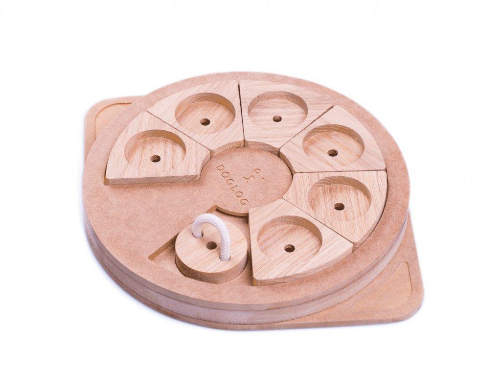 Doglog Pizza dřevěný hlavolam pro psy