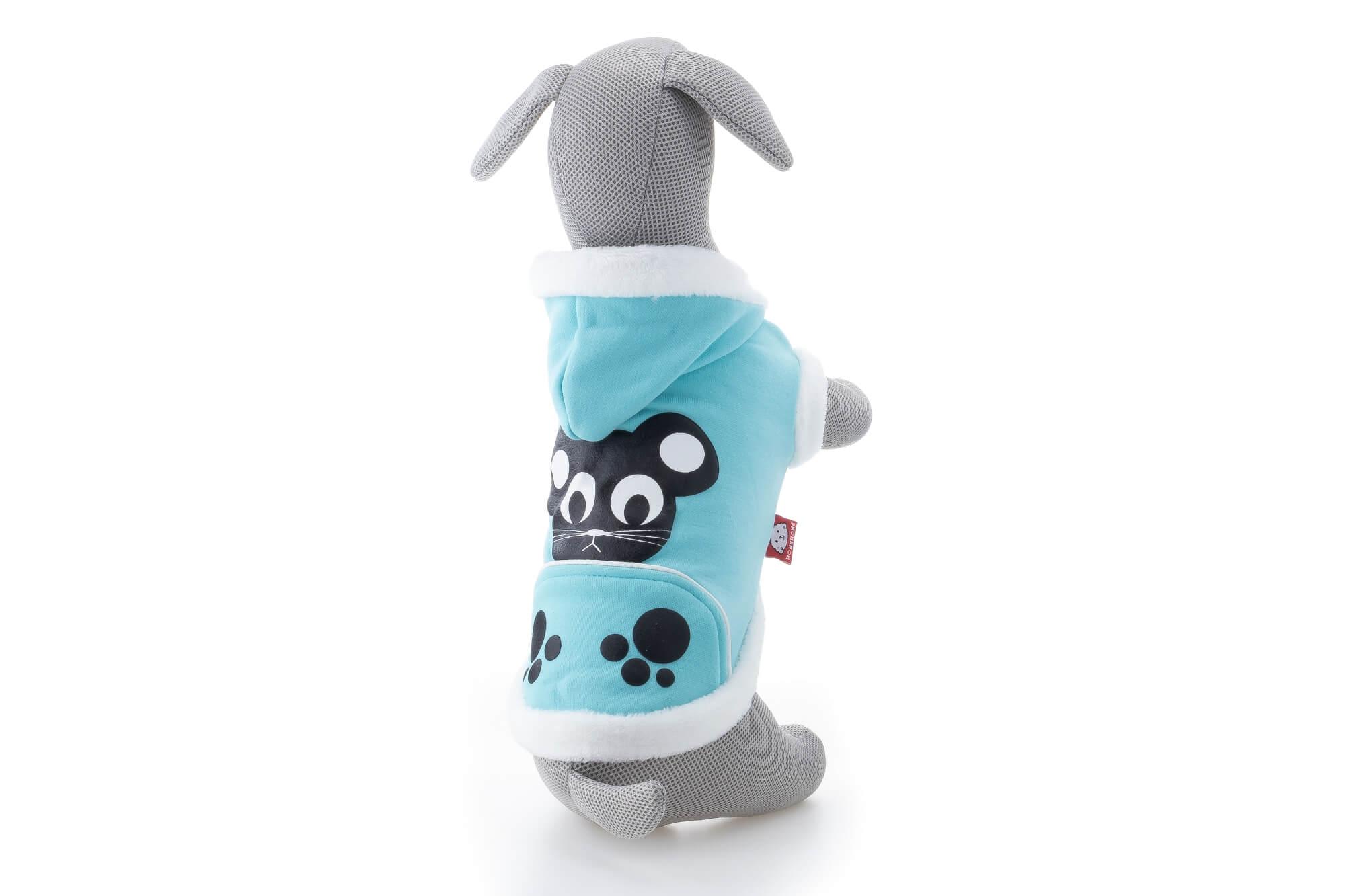 Vsepropejska Norik mikina pro psa Barva: Modrá, Délka zad psa: 23 cm, Obvod hrudníku: 31 - 34 cm