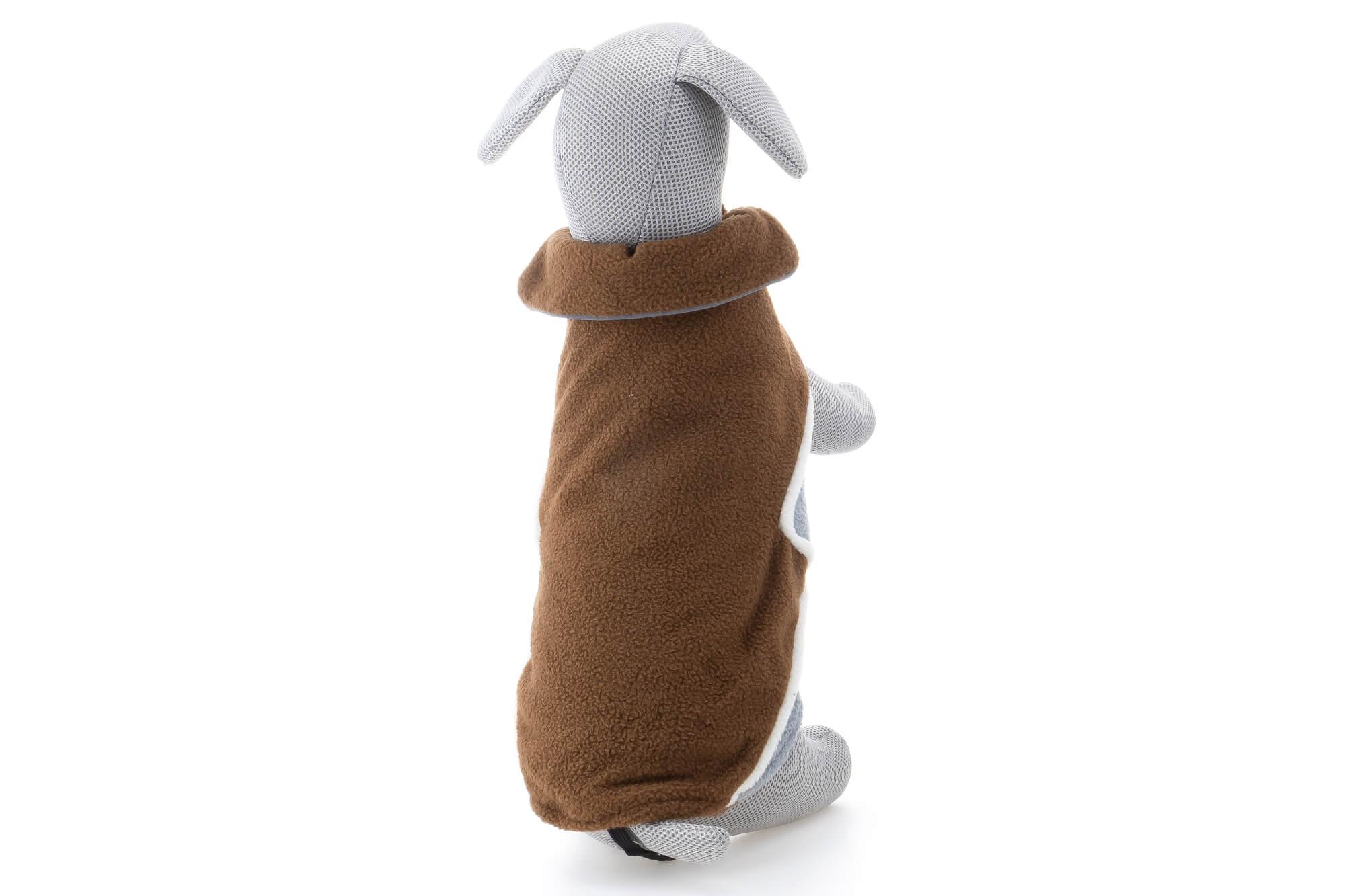 Vsepropejska Briana fleecová mikina pro psa Barva: Hnědá, Délka zad psa: 26 cm, Obvod hrudníku: 36 - 40 cm