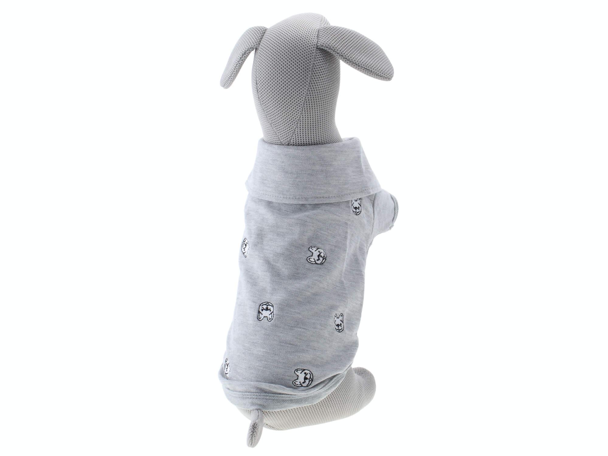 Levně Vsepropejska Brok šedé tričko pro psa Délka zad psa: 34 cm, Obvod hrudníku: 52 - 54 cm