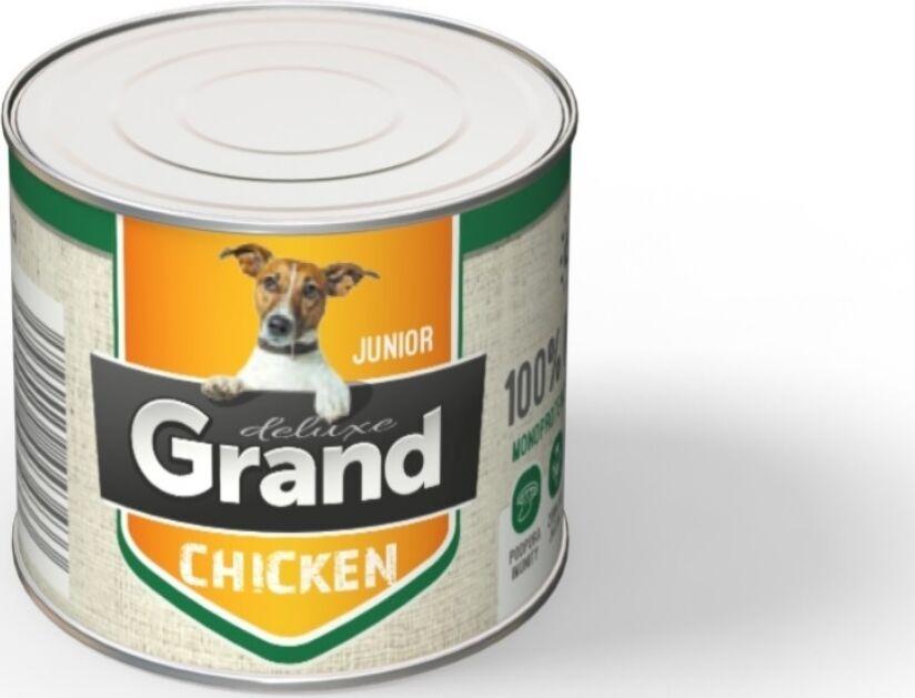 Grand deluxe 100% kuřecí konzerva pro psa junior Rozměr: 180 g