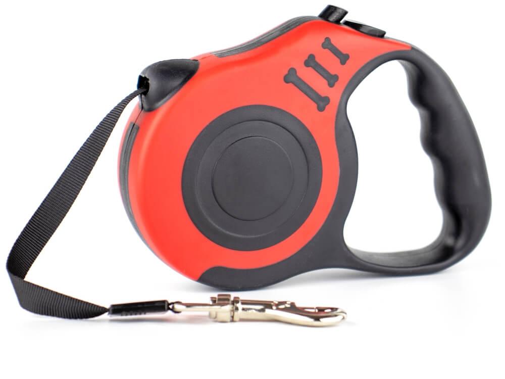 Vsepropejska Rest samonavíjecí vodítko pro psa Barva: Černo-červená, Délka vodítka: 3 m