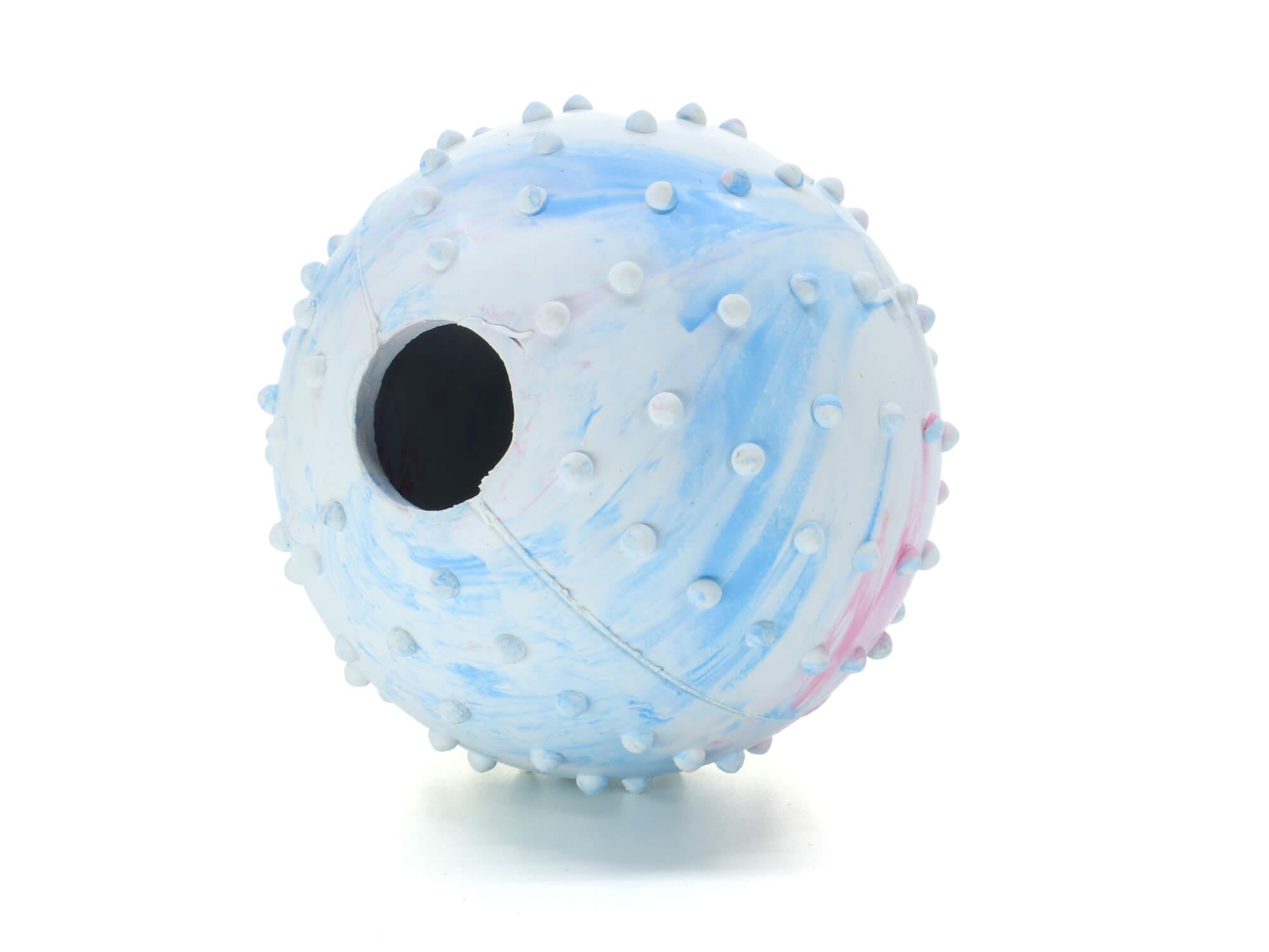 Vsepropejska Nuk gumový míček na pamlsky pro psa Barva: Bílá, Rozměr: 6 cm