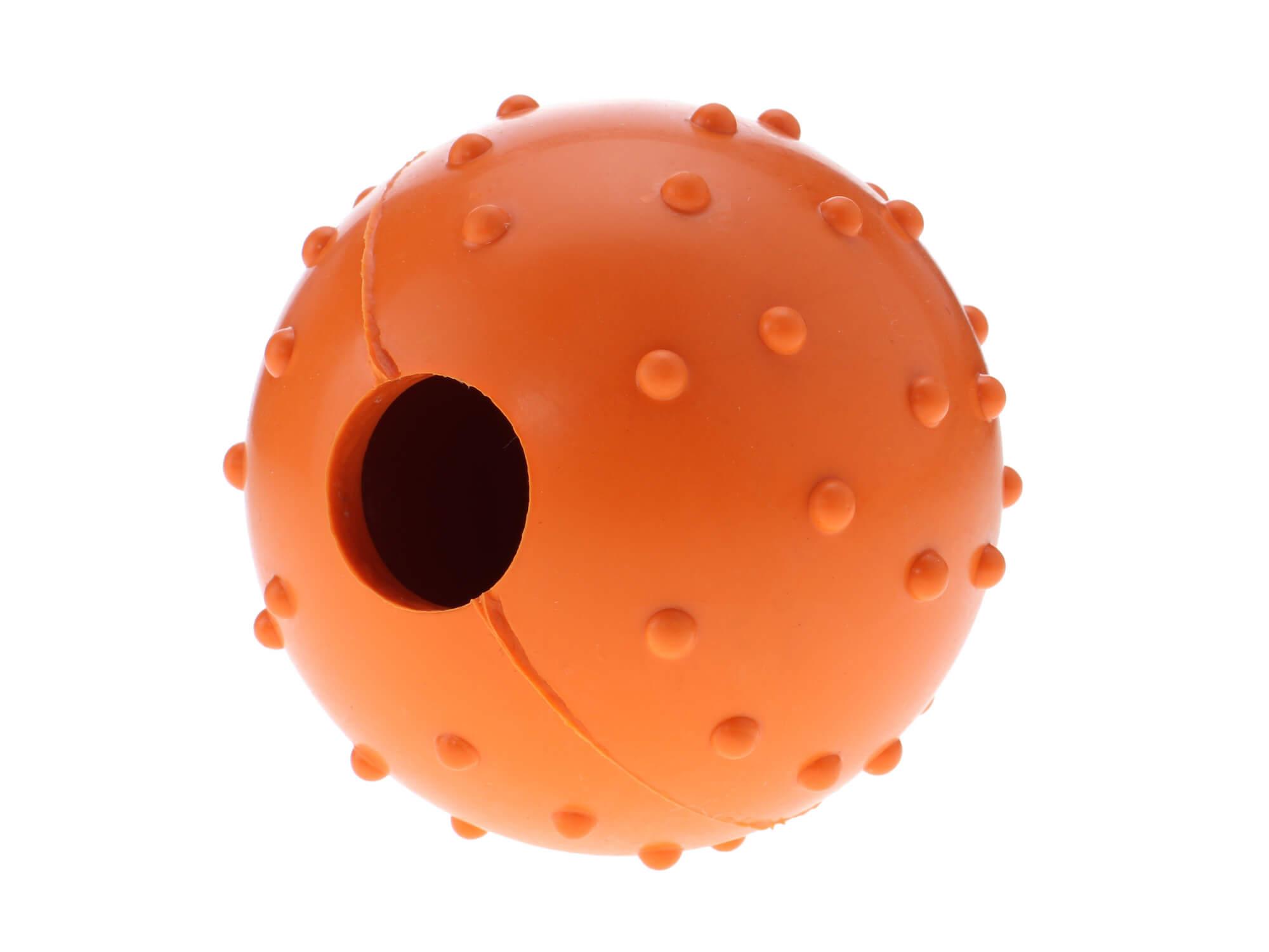 Vsepropejska Wren gumový míček na pamlsky pro psa Barva: Oranžová, Rozměr: 6 cm