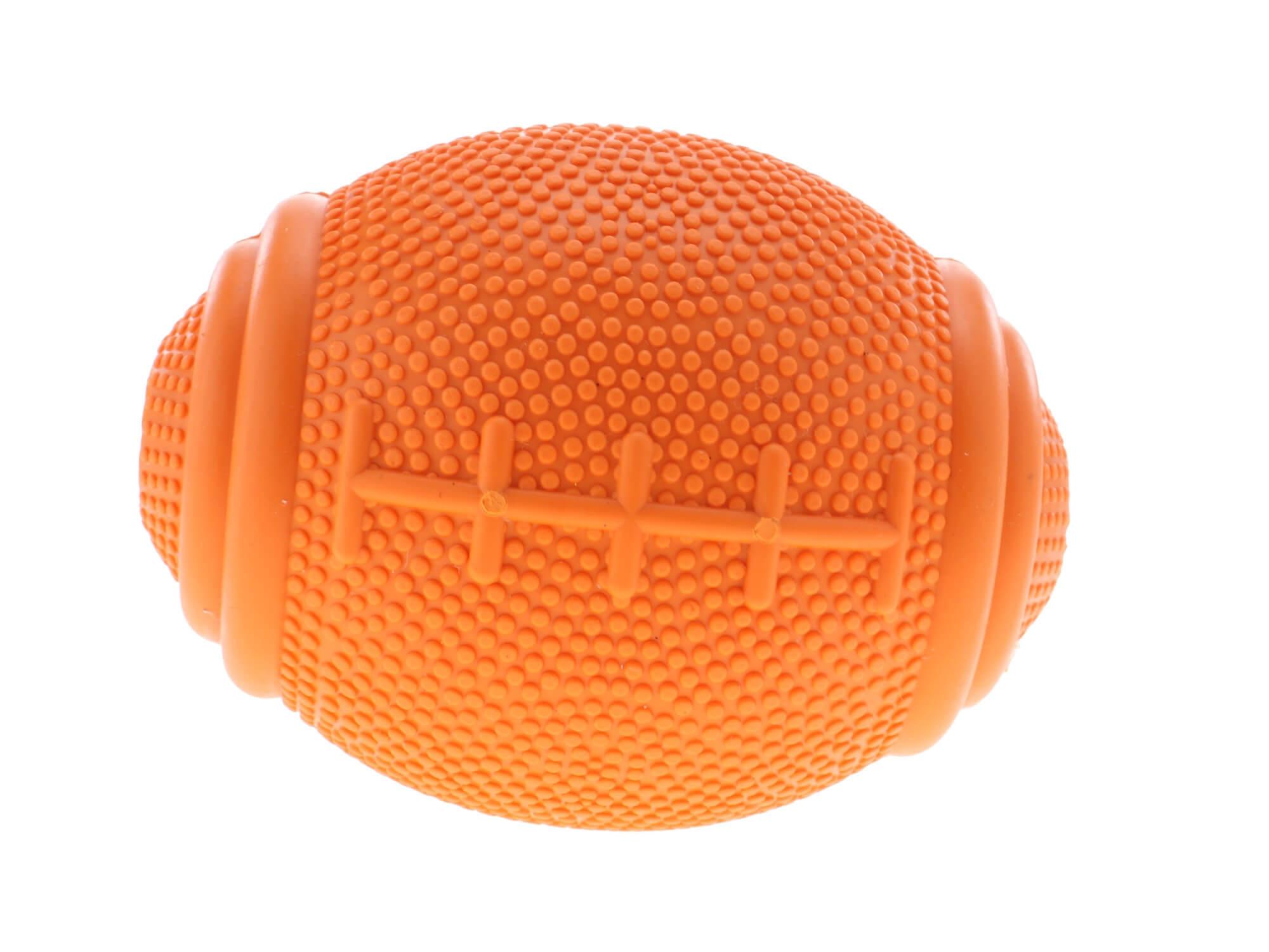 Vsepropejska Tegan ragby míč pro psa na pamlsky Barva: Oranžová, Rozměr: 8 cm