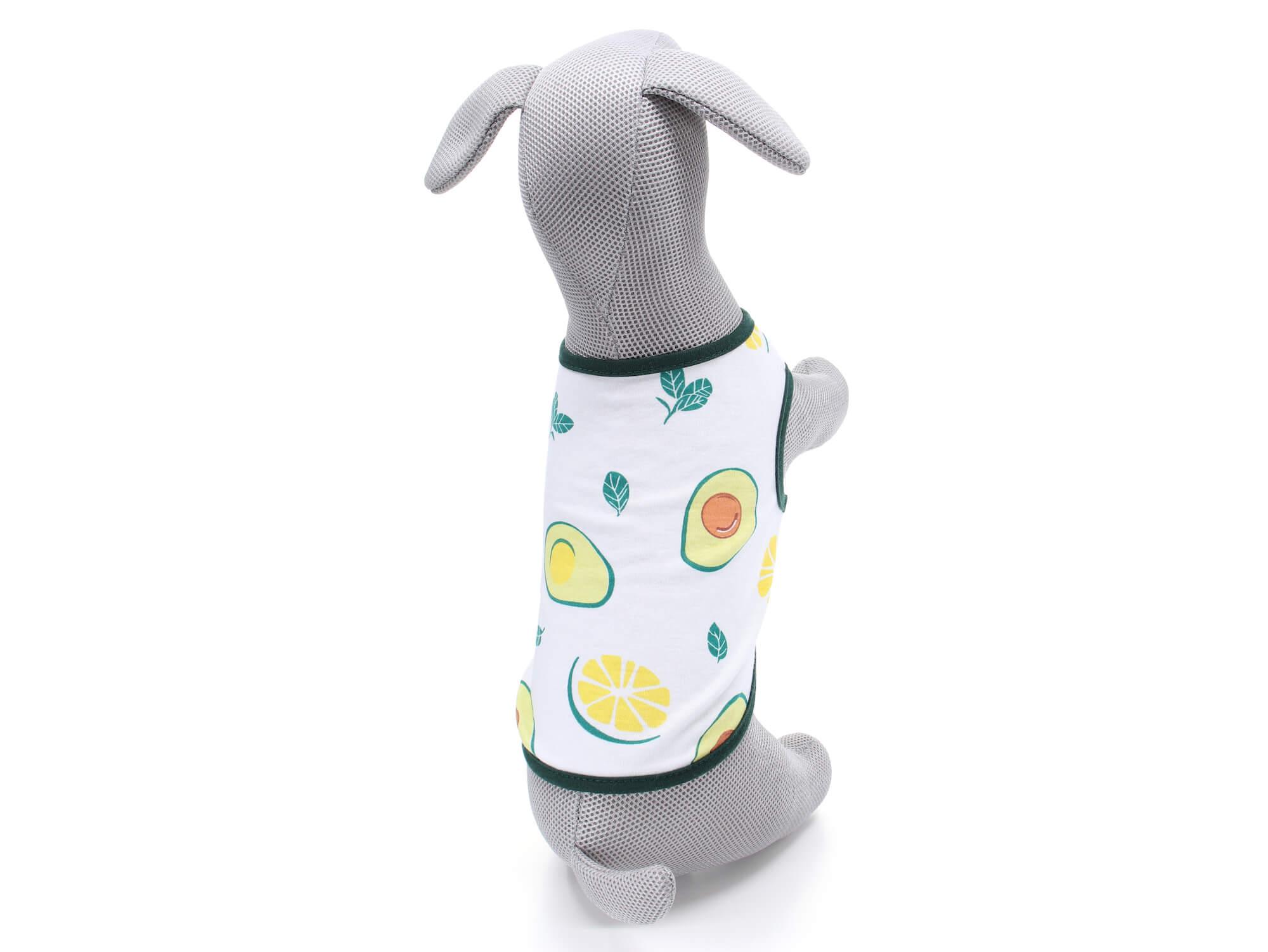 Vsepropejska Zada ovocné tričko s potiskem pro psa Barva: Zelená, Délka zad psa: 20 cm, Obvod hrudníku: 32 - 36 cm