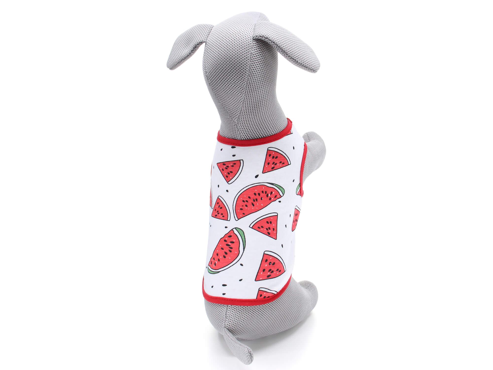 Vsepropejska Zada ovocné tričko s potiskem pro psa Barva: Červená, Délka zad psa: 20 cm, Obvod hrudníku: 32 - 36 cm