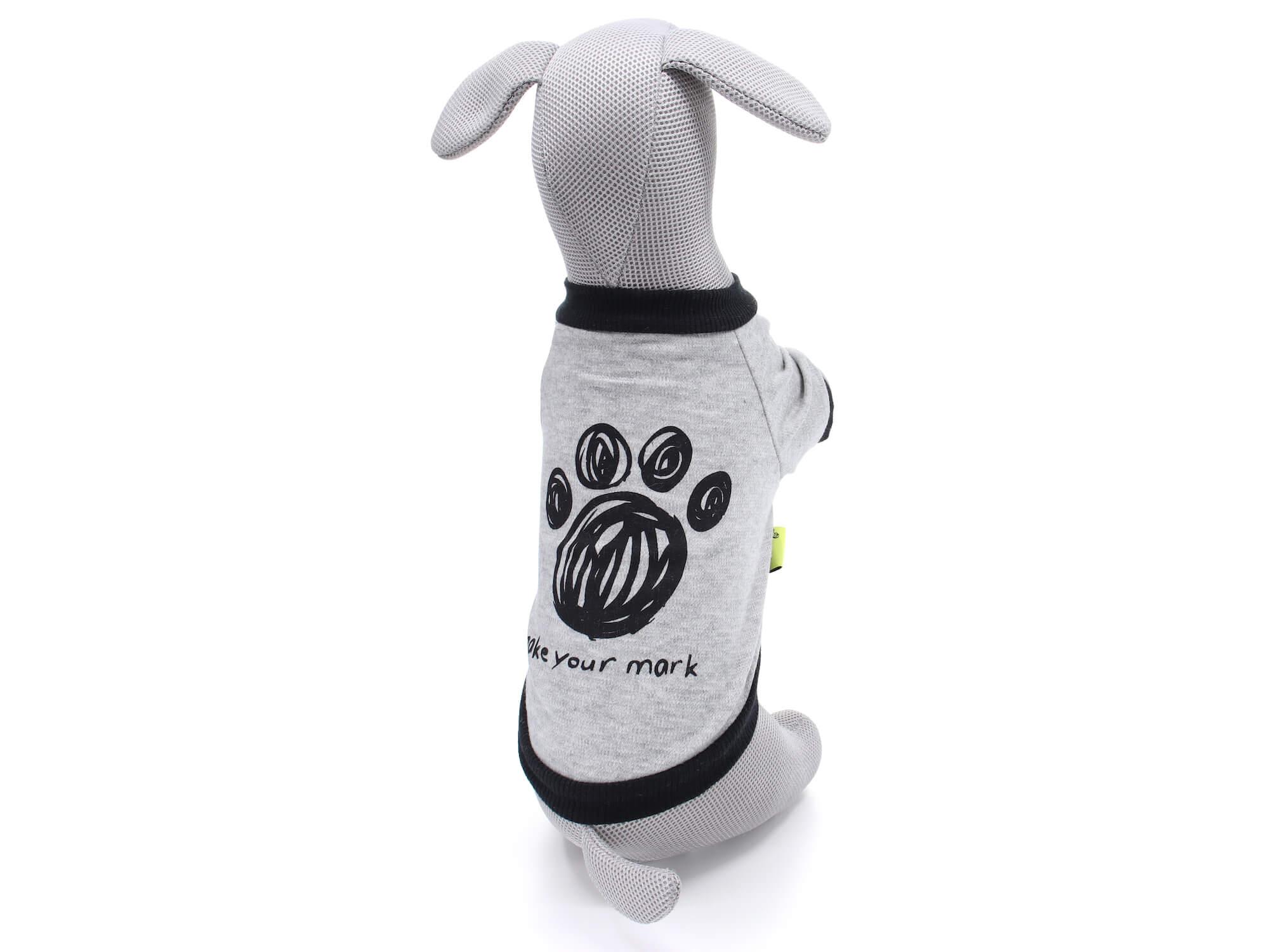 Vsepropejska Birk mikina s obrázkem pro psa Barva: Šedá, Délka zad psa: 17 cm, Obvod hrudníku: 32 - 35 cm