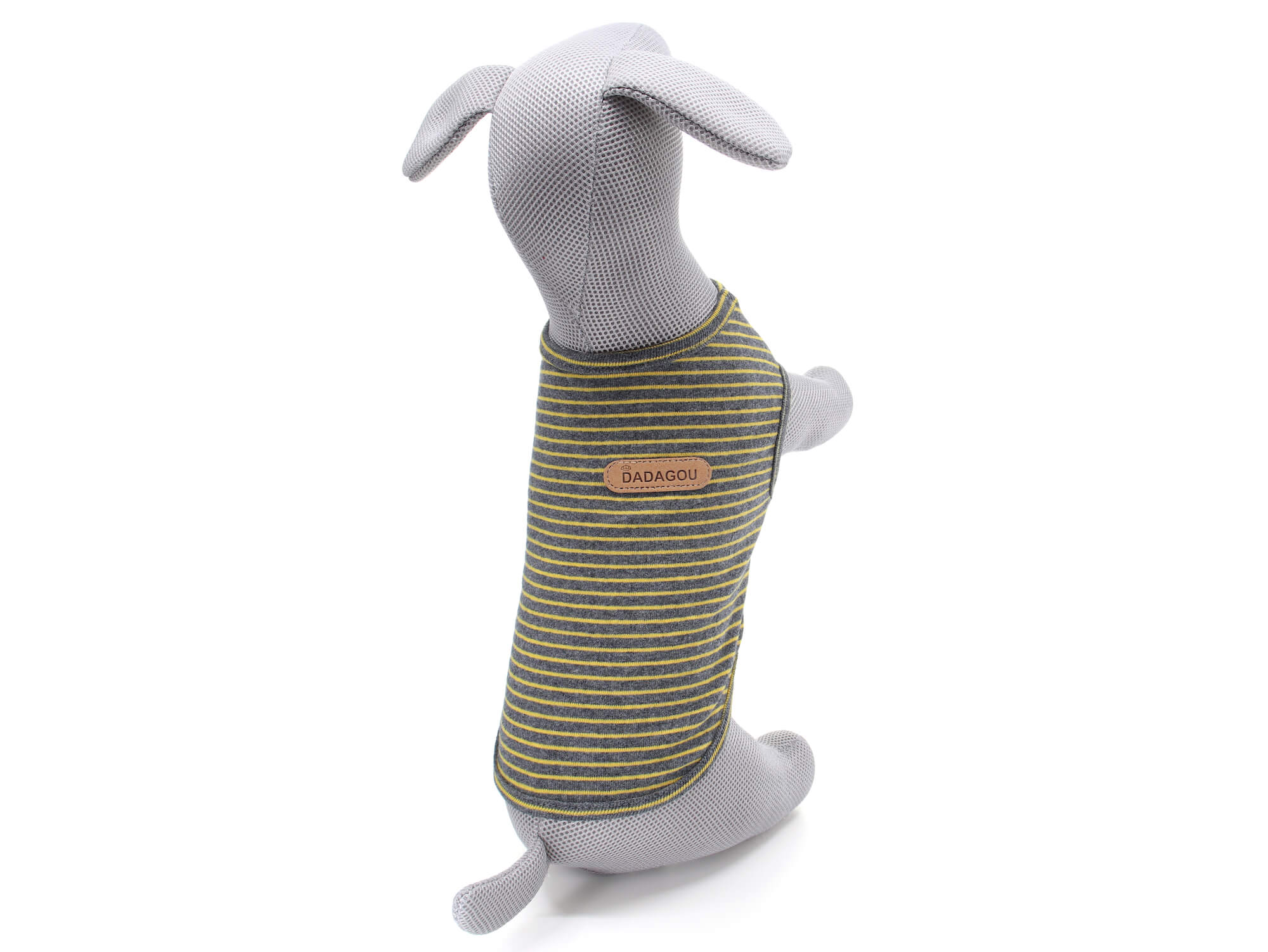 Vsepropejska Ebony pruhované tričko pro psa Barva: Béžová, Délka zad psa: 22 cm, Obvod hrudníku: 34 - 40 cm