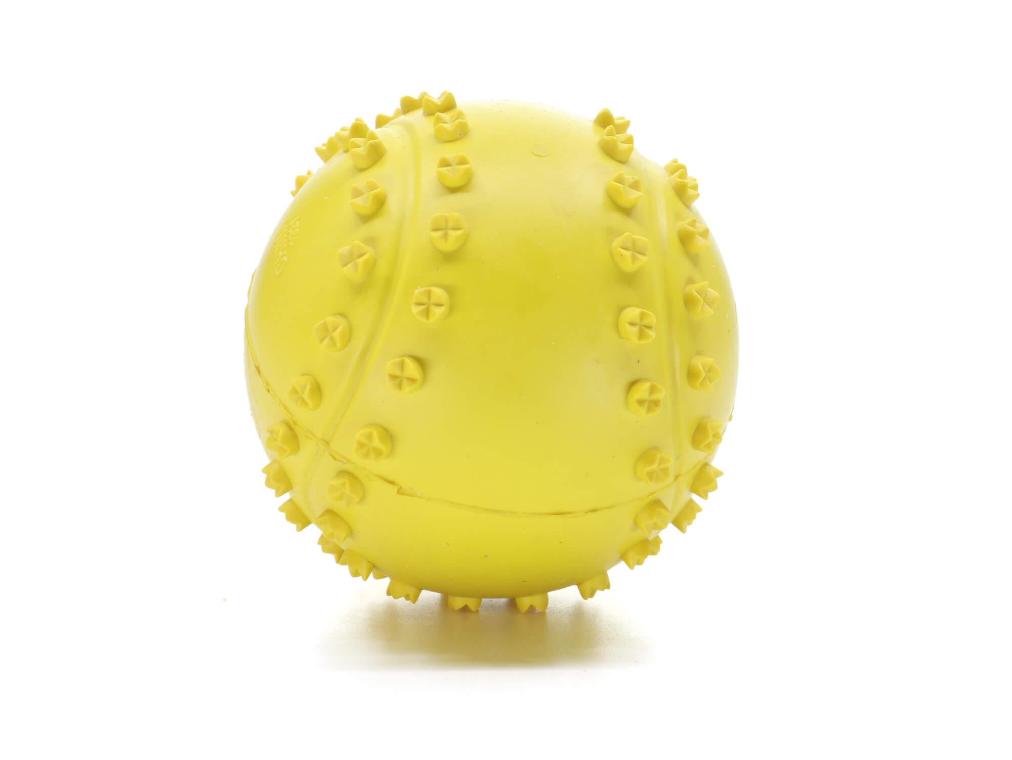 Vsepropejska Derby gumový míček pro psa   6 cm Barva: Žlutá