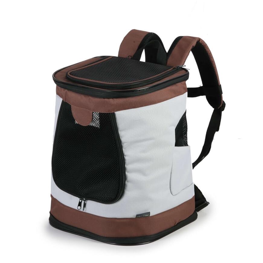 Vsepropejska Path bílo-hnědý sportovní batoh pro psa