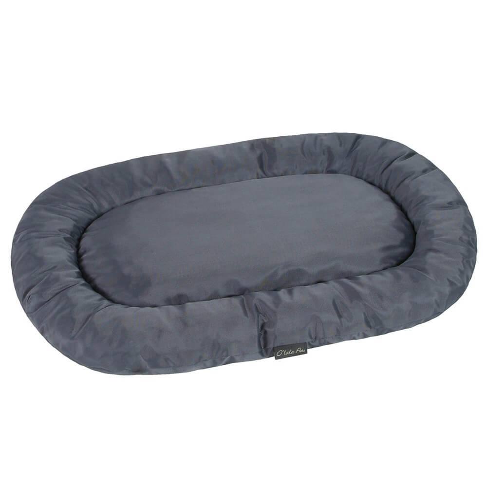 I love pets Ross šedá oválná matrace pro psa Rozměr: 100 x 55 cm
