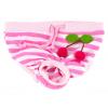 Absorb růžové hárací kalhotky pro psa s třešničkami