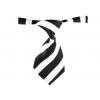 Černo-bílá kravata pro psa s proužky - kravaty pro psy - vsepropejska.cz